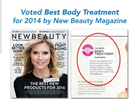 Coolsculpting назван лучшей процедурой по телу 2014 года