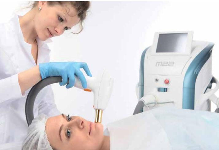 Процедура фракционного неаблятивного омоложения кожи на аппарате М22 Lumenis с использованием лазера ResurFX