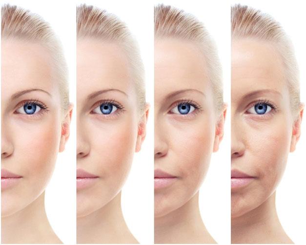 Постепенное образование мелких морщин на лице