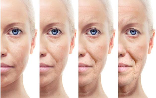 Постепенное образование средних и глубоких морщин на лице