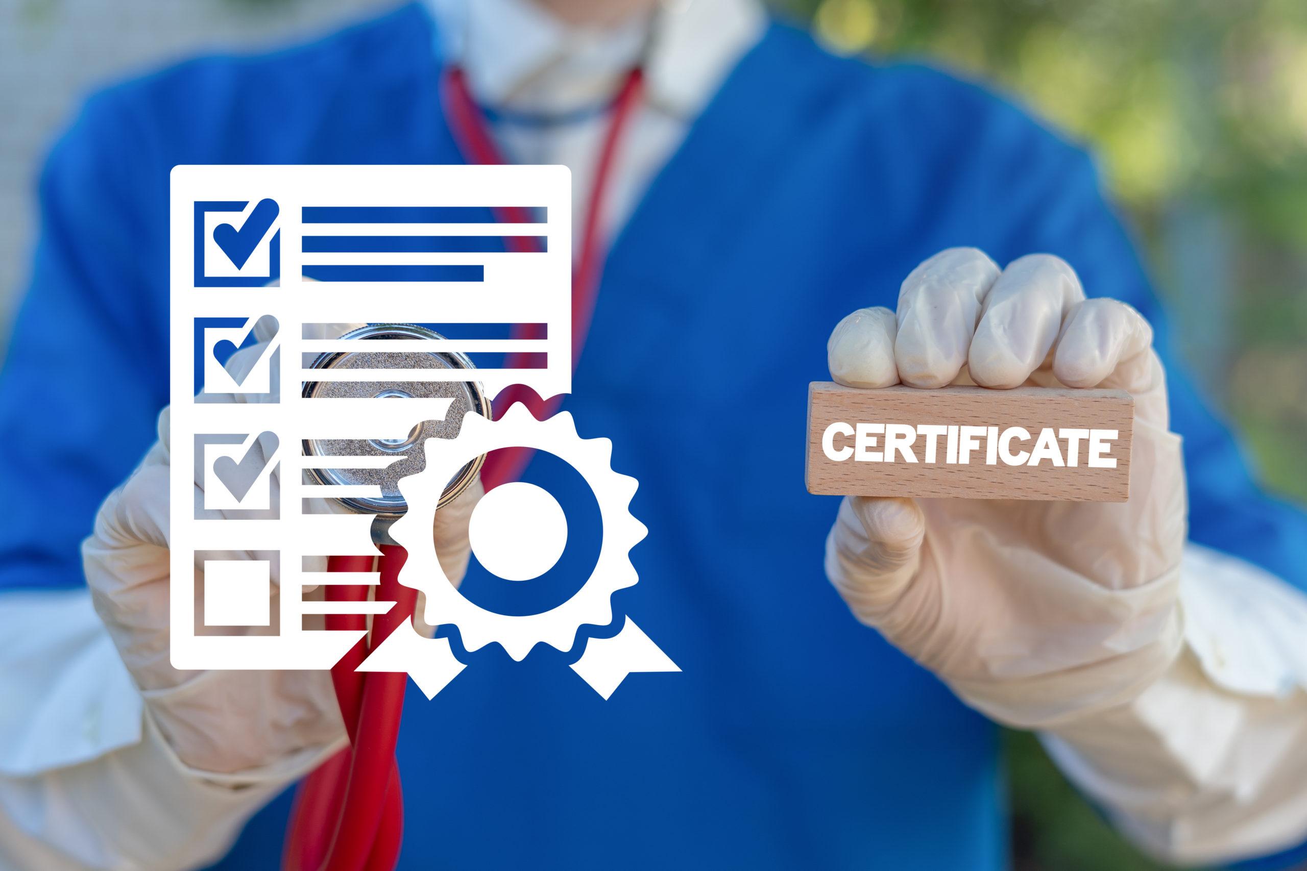 Сертификаты медицинских работников продлеваются